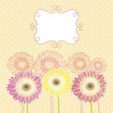 Ανασκόπηση με τα λουλούδια Στοκ φωτογραφία με δικαίωμα ελεύθερης χρήσης