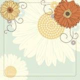 Ανασκόπηση με τα λουλούδια Στοκ Εικόνα