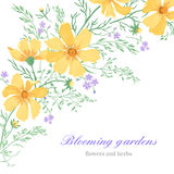 Ανασκόπηση με τα λουλούδια Στοκ Φωτογραφίες