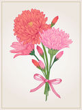 Ανασκόπηση με τα λουλούδια Στοκ εικόνα με δικαίωμα ελεύθερης χρήσης