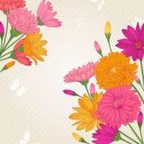 Ανασκόπηση με τα λουλούδια Στοκ Φωτογραφία