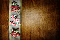 Ανασκόπηση με τα παιχνίδια Χριστουγέννων Στοκ Εικόνες