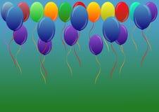 Ανασκόπηση με τα πολύχρωμα μπαλόνια Στοκ Φωτογραφία