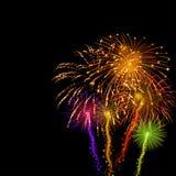 Ανασκόπηση με τα πυροτεχνήματα Στοκ Εικόνα