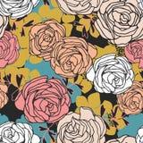 Ανασκόπηση με τα τριαντάφυλλα Στοκ Εικόνα