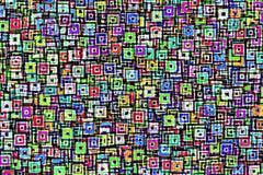 Ανασκόπηση με τα φωτεινά χρωματισμένα τετράγωνα ελεύθερη απεικόνιση δικαιώματος