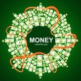 Ανασκόπηση με τα χρήματα Στοκ Φωτογραφίες