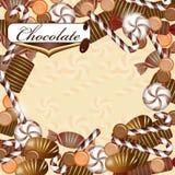 Ανασκόπηση με την καραμέλα σοκολάτας Στοκ εικόνα με δικαίωμα ελεύθερης χρήσης