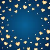 Ανασκόπηση με τις καρδιές κινούμενων σχεδίων, πρότυπο για την κάρτα Στοκ Εικόνες
