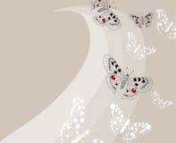 Ανασκόπηση με τις πεταλούδες Στοκ φωτογραφία με δικαίωμα ελεύθερης χρήσης