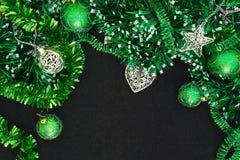 Ανασκόπηση με τις σφαίρες Χριστουγέννων Στοκ Εικόνες