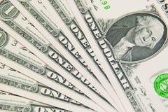 Ανασκόπηση με τους λογαριασμούς δολλαρίου ΗΠΑ χρημάτων Στοκ Εικόνες