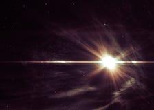 Ανασκόπηση με το λάμποντας αστέρι στο διάστημα Στοκ εικόνες με δικαίωμα ελεύθερης χρήσης