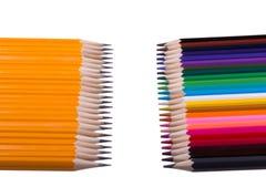 Ανασκόπηση μολυβιών χρώματος κλείστε επάνω του χρώματος μολυβιών στοκ φωτογραφία με δικαίωμα ελεύθερης χρήσης