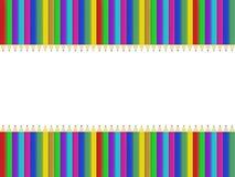 Ανασκόπηση μολυβιών χρώματος Απεικόνιση αποθεμάτων