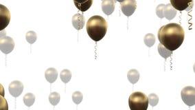 Ανασκόπηση μπαλονιών απόθεμα βίντεο