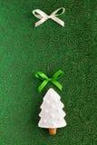 Ανασκόπηση μπισκότων δέντρων του FIR Χριστουγέννων Στοκ εικόνα με δικαίωμα ελεύθερης χρήσης
