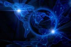 ανασκόπηση μπλε Διαδίκτυ Στοκ Εικόνα