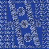 Ανασκόπηση, μπλε, πρότυπο μετάλλων Στοκ Εικόνες