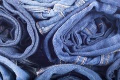 ανασκόπηση μπλε Jean μπλε σύσταση τζιν τζιν πίσω τσέπη τζιν ανασκόπησης Στοκ Εικόνες