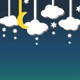 Ανασκόπηση νυχτερινού ουρανού Στοκ Φωτογραφίες