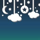Ανασκόπηση νυχτερινού ουρανού Στοκ φωτογραφία με δικαίωμα ελεύθερης χρήσης
