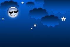 Ανασκόπηση νύχτας κινούμενων σχεδίων ελεύθερη απεικόνιση δικαιώματος