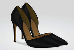 ανασκόπηση που απομονώνεται πέρα από τη λευκή γυναίκα παπουτσιών απεικόνιση αποθεμάτων