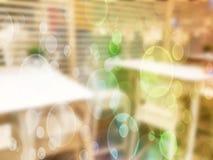 ανασκόπηση που θολώνεται αφηρημένη Εσωτερικό κατάστημα επίπλων Στοκ εικόνα με δικαίωμα ελεύθερης χρήσης