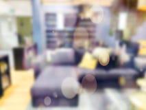 ανασκόπηση που θολώνεται αφηρημένη Εσωτερικό κατάστημα επίπλων Στοκ φωτογραφίες με δικαίωμα ελεύθερης χρήσης