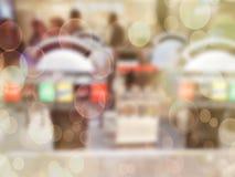 ανασκόπηση που θολώνεται αφηρημένη Εσωτερικό κατάστημα επίπλων, bokeh Στοκ Φωτογραφίες