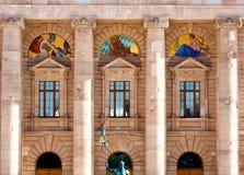 ανασκόπηση που χτίζει την &iot Στοκ φωτογραφία με δικαίωμα ελεύθερης χρήσης
