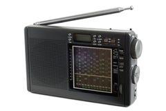 ανασκόπηση που ψαλιδίζει το απομονωμένο λευκό ραδιο δεκτών μονοπατιών Στοκ Φωτογραφία