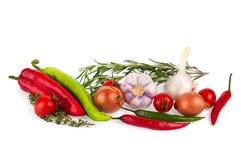 ανασκόπηση που ψαλιδίζει το φρέσκο συμπεριλαμβανόμενο απομονωμένο λευκό λαχανικών μονοπατιών Στοκ εικόνες με δικαίωμα ελεύθερης χρήσης
