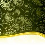 ανασκόπηση πράσινο Paisley Στοκ εικόνες με δικαίωμα ελεύθερης χρήσης