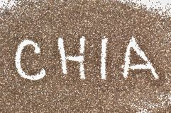 Ανασκόπηση σπόρων Chia Στοκ φωτογραφίες με δικαίωμα ελεύθερης χρήσης