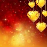 Ανασκόπηση στην ημέρα του βαλεντίνου με πολλές καρδιές ελεύθερη απεικόνιση δικαιώματος