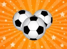 Ανασκόπηση σφαιρών ποδοσφαίρου Στοκ εικόνες με δικαίωμα ελεύθερης χρήσης