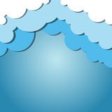 Ανασκόπηση σύννεφων Στοκ Εικόνες