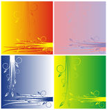 ανασκόπηση τέσσερα παραλλαγές Στοκ Εικόνα