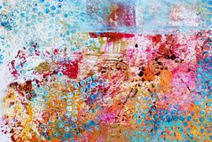 ανασκόπηση τέχνης colorfull απεικόνιση αποθεμάτων