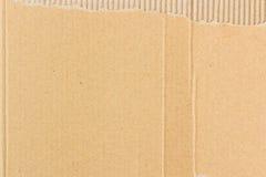 Ανασκόπηση του ζαρωμένου χαρτονιού Στοκ Εικόνα