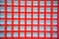 Ανασκόπηση του κόκκινου κιγκλιδώματος χάλυβα Στοκ Φωτογραφία