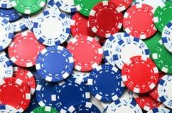 Ανασκόπηση τσιπ πόκερ στοκ εικόνα