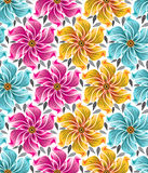 Ανασκόπηση των άνευ ραφής λουλουδιών για τα υφάσματα Στοκ Φωτογραφίες