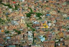 Ανασκόπηση των σπιτιών, Λα Παζ, Βολιβία Στοκ Εικόνες