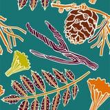 ανασκόπηση φθινοπώρου άνευ ραφής Διανυσματική απεικόνιση