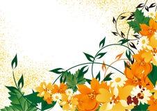 ανασκόπηση φθινοπώρου floral ελεύθερη απεικόνιση δικαιώματος
