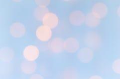Ανασκόπηση φω'των Bokeh Χλωμιάστε - μπλε και ροζ Στοκ Εικόνες