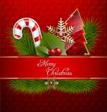 Ανασκόπηση Χαρούμενα Χριστούγεννας Στοκ Εικόνες